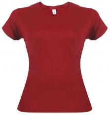 Camiseta Gildan rojo cereza jaspeado de mujer
