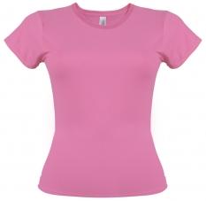Camiseta Gildan rosado azalea de mujer