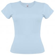 Camiseta Gildan azul claro de mujer - UNIDAD