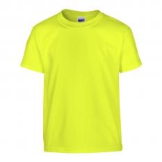 Camiseta Gildan junior amarillo neón - UNIDAD