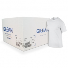 Camiseta Gildan blanca CAJA POR 72 UNIDADES