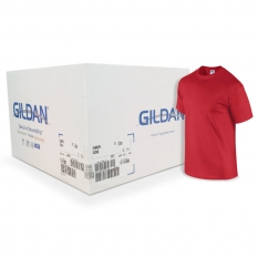 Camiseta Gildan roja CAJA POR 72 UNIDADES