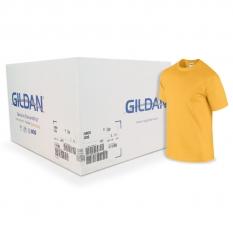 Camiseta Gildan amarillo oro CAJA POR 72 UNIDADES