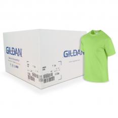 Camiseta Gildan verde limón CAJA POR 72 UNIDADES