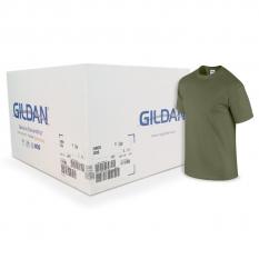 Camiseta Gildan verde militar CAJA POR 72 UNIDADES