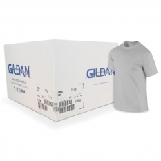 Camiseta Gildan Gris CAJA POR 72 UNIDADES