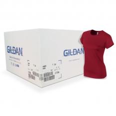 Camiseta Gildan roja cereza jaspeado de mujer CAJA POR 36 UNIDAD