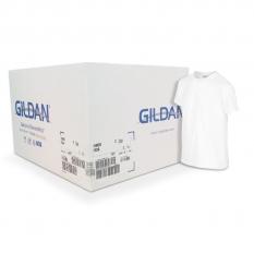 Camiseta Gildan junior blanca CAJA POR 72 UNIDADES