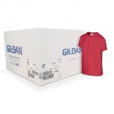 Camiseta Gildan junior roja CAJA POR 72 UNIDADES