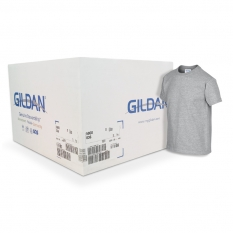 Camiseta Gildan gris jaspeada CAJA POR 72 UNIDADES