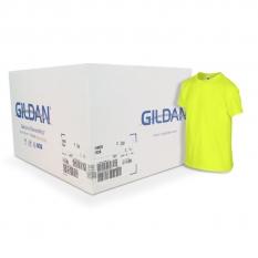 Camiseta Gildan amarillo neón CAJA POR 72 UNIDADES