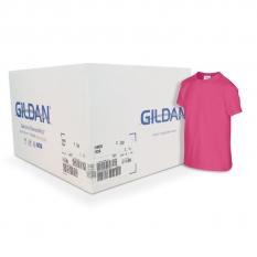 Camiseta Gildan fucsia CAJA POR 72 UNIDADES
