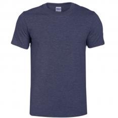Camiseta Gildan Sofstyle Azul nave jaspeado- UNIDAD