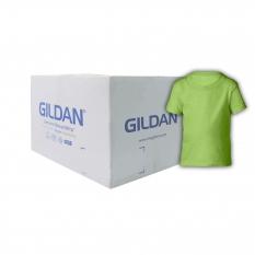 Camiseta Gildan Junior Toddler Verde Limon CAJA POR 36 UNIDADES