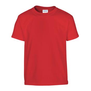 Camiseta Gildan junior roja - UNIDAD