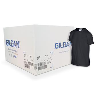 Camiseta Gildan junior negra CAJA POR 72 UNIDADES