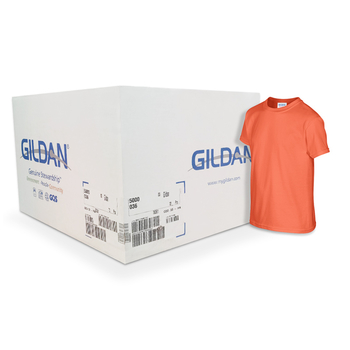 Camiseta Gildan junior naranja CAJA POR 72 UNIDADES